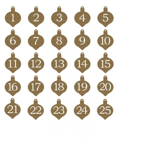 Ornaments Countdown - Chipboard