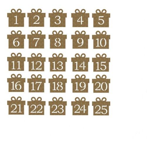 Presents Coundown - Chipboard