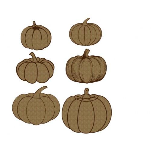Pumpkin Set - Chipboard