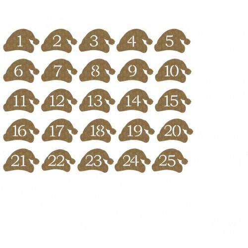 Santa Hat Countdown - Chipboard