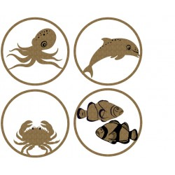 Sea Creature ATC Coins