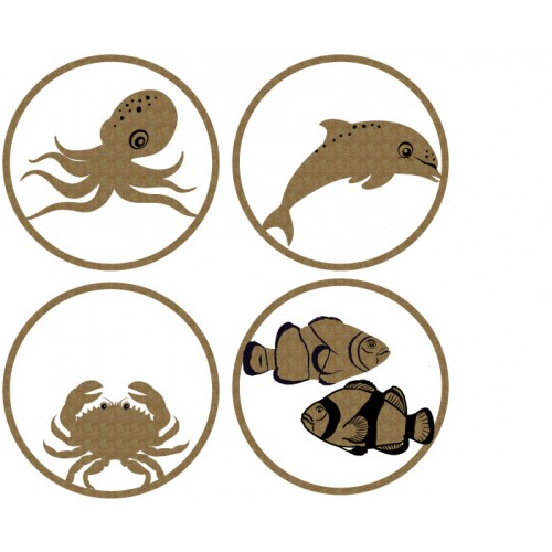 Sea Creature ATC Coins - Artist Trading Card / Coins