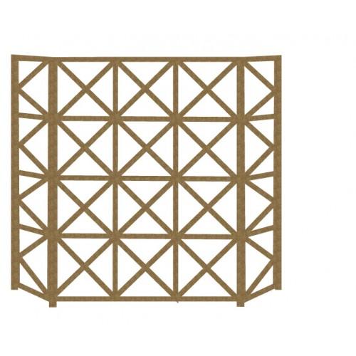 Simple Fireplace Screen - Chipboard