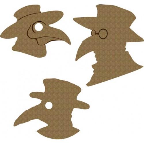 Crow Skull mask - Animals