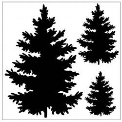 3 Tree Stencil