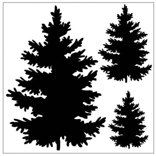 3 Tree Stencil - Stencils