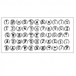 Typewriter Keys Stencil