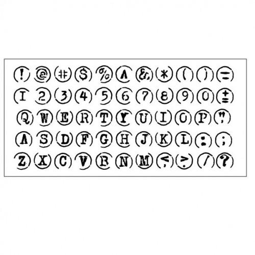 Typewriter Keys Stencil - Stencils