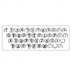 Typewriter Keys Stamp