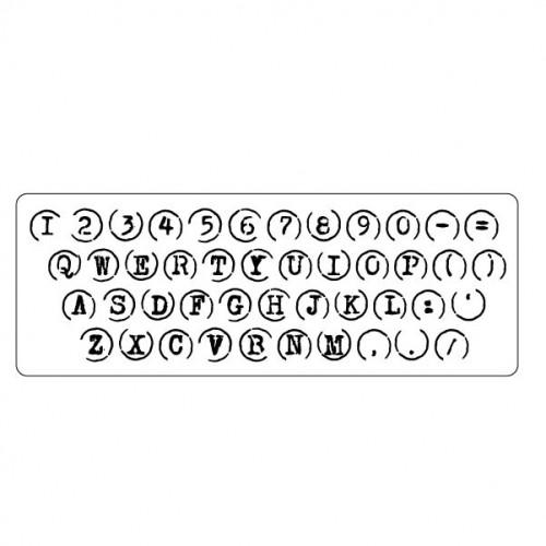 Typewriter Keys Stamp - Rubber Stamps