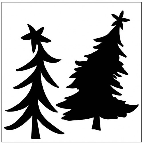 Whimsical tree 2 - Stencils