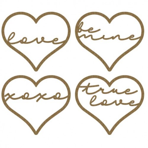 Love Sentiment Hearts - Words