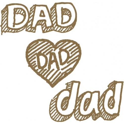 Scribble Dad Set - Words