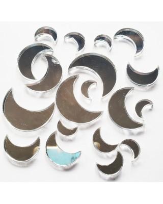 Mirrored Silver Moon Set
