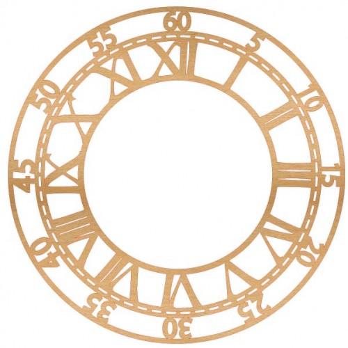 Skeleton Clock Wood - Home Decor