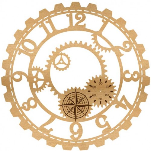 Steampunk Clock Wood - Home Decor
