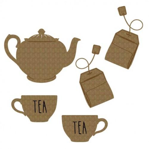 Tea set - Chipboard