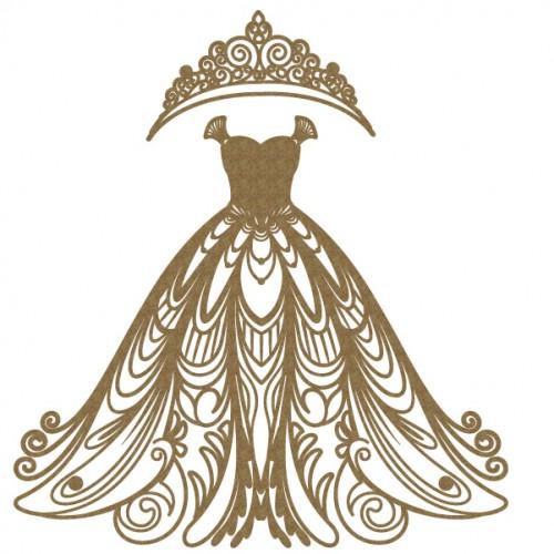 Wedding Dress - Chipboard